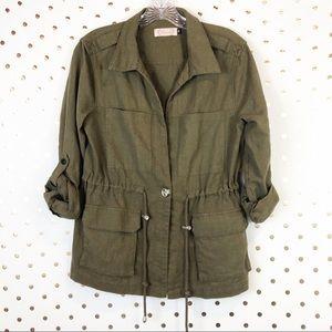 Blush Boutique Linen Utility Jacket B0027